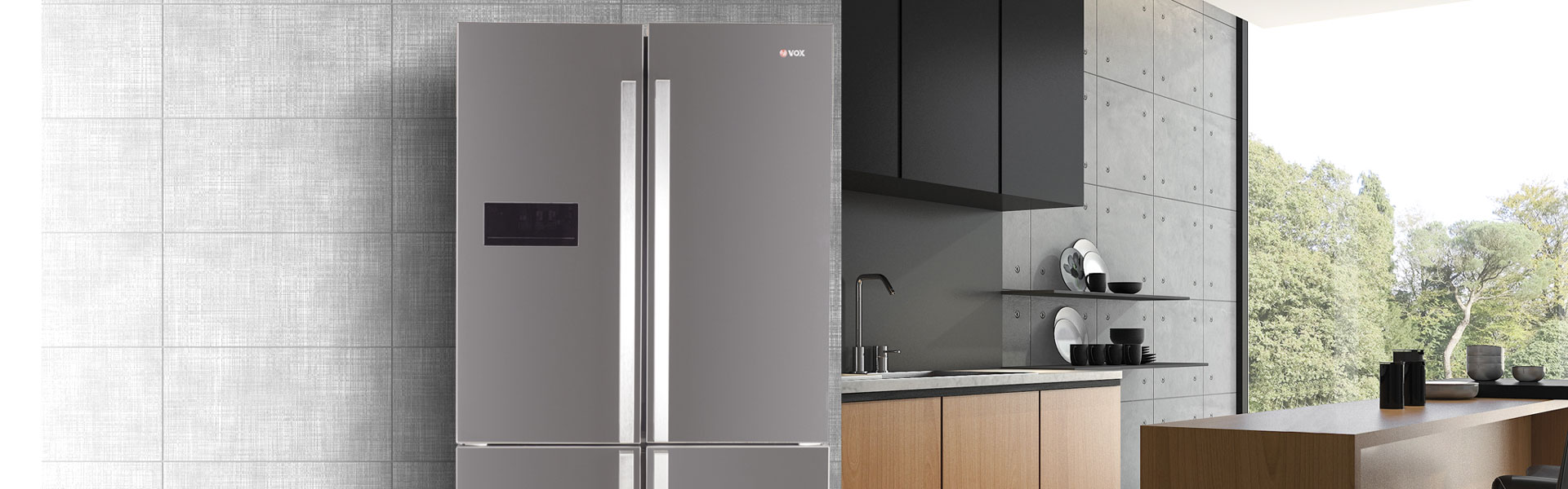 Combined refrigerators with bottom freezer