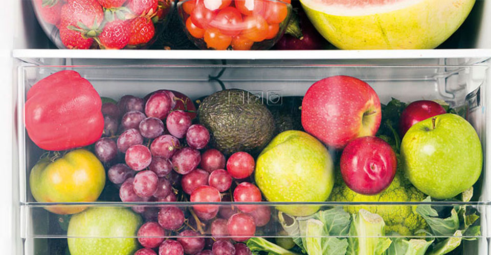 Large fruits and vegetable crisper drawer